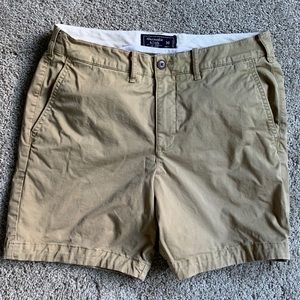 Abercrombie khaki stretch shorts size 30